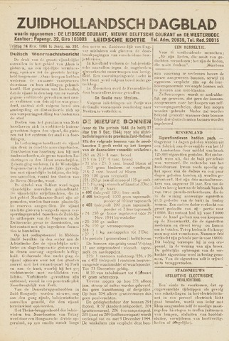 Zuidhollandsch Dagblad 1944-11-24