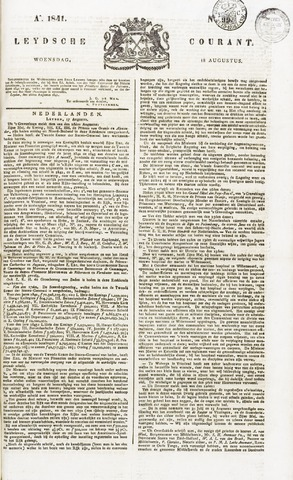 Leydse Courant 1841-08-18