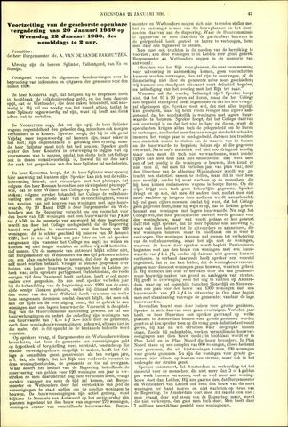 Handelingen van de Raad 1930-01-22