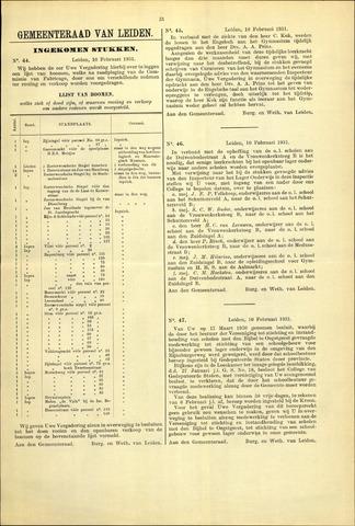 Handelingen van de Raad 1931-02-10