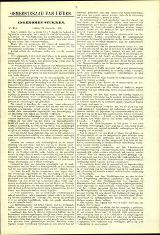 Handelingen van de Raad 1936-08-24