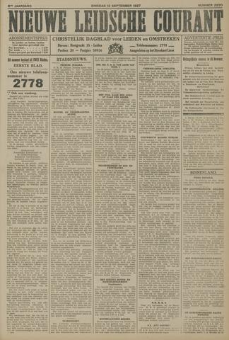 Nieuwe Leidsche Courant 1927-09-13
