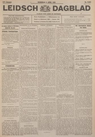 Leidsch Dagblad 1930-04-09