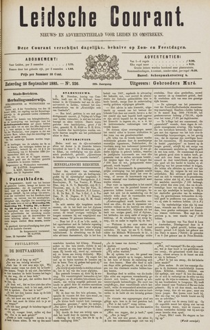 Leydse Courant 1885-09-26
