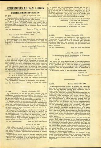 Handelingen van de Raad 1920-09-08