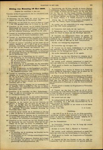 Handelingen van de Raad 1920-05-10
