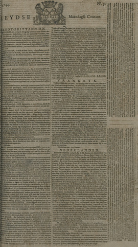 Leydse Courant 1744-04-27