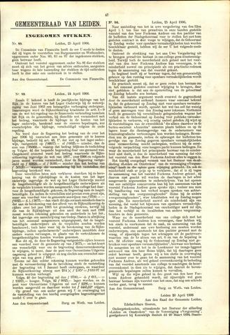 Handelingen van de Raad 1906-04-25