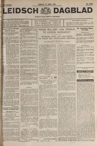 Leidsch Dagblad 1933-04-25