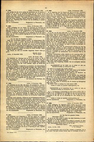 Handelingen van de Raad 1879-11-06
