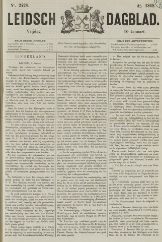 Leidsch Dagblad 1868-01-10
