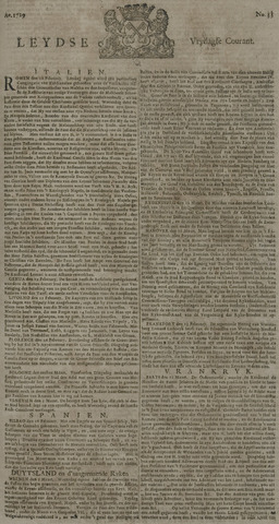 Leydse Courant 1729-03-18