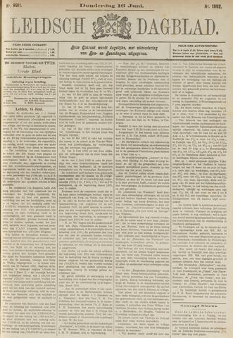 Leidsch Dagblad 1892-06-16