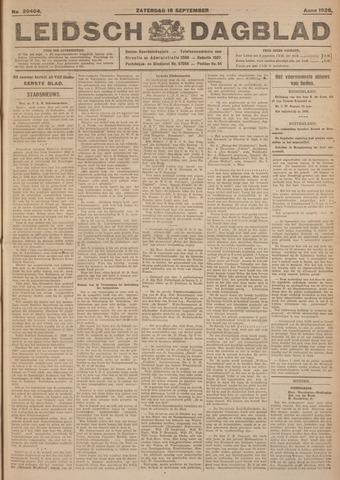 Leidsch Dagblad 1926-09-18