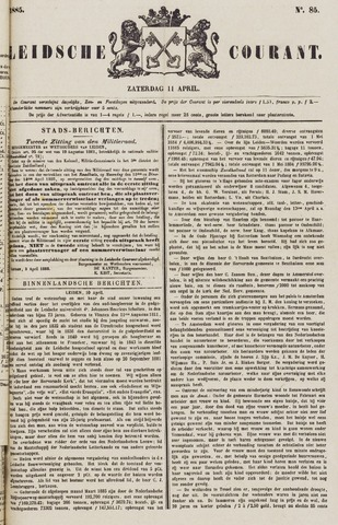 Leydse Courant 1885-04-11
