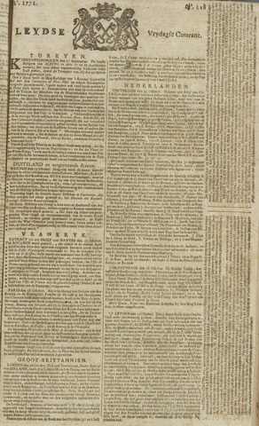 Leydse Courant 1771-10-25
