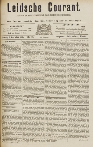 Leydse Courant 1885-08-01