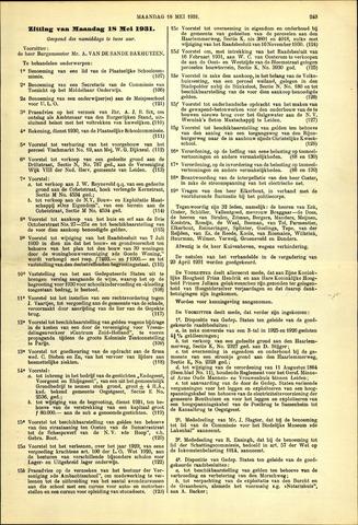 Handelingen van de Raad 1931-05-18