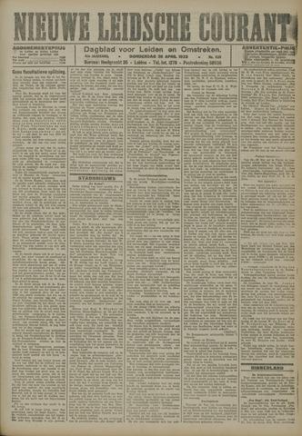 Nieuwe Leidsche Courant 1923-04-26