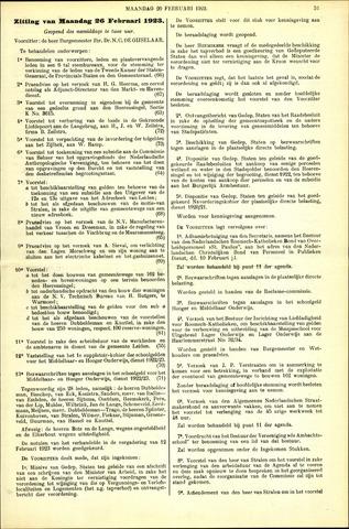 Handelingen van de Raad 1923-02-26