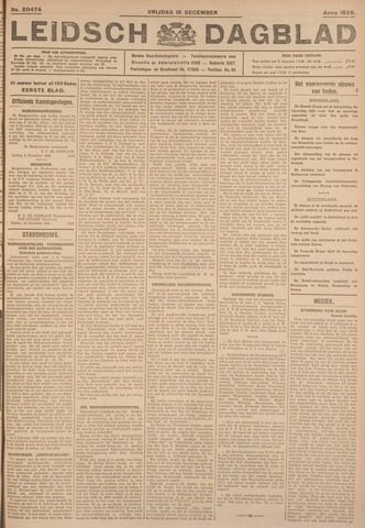 Leidsch Dagblad 1926-12-10