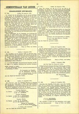 Handelingen van de Raad 1930-08-20