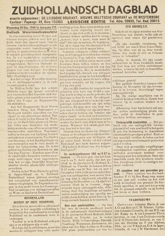 Zuidhollandsch Dagblad 1944-12-20