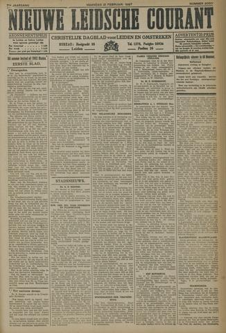 Nieuwe Leidsche Courant 1927-02-21