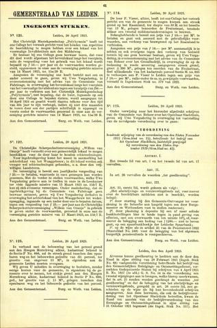 Handelingen van de Raad 1923-04-20