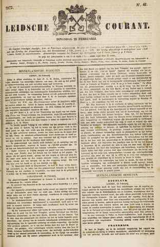 Leydse Courant 1873-02-25