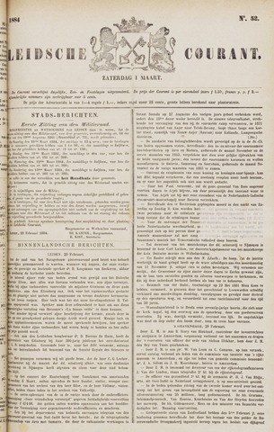 Leydse Courant 1884-03-01