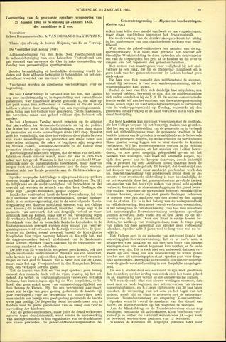 Handelingen van de Raad 1935-01-23