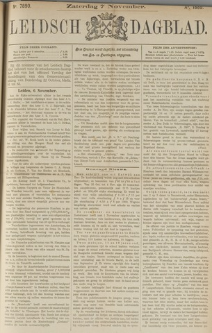Leidsch Dagblad 1885-11-07
