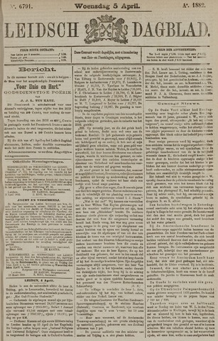 Leidsch Dagblad 1882-04-05
