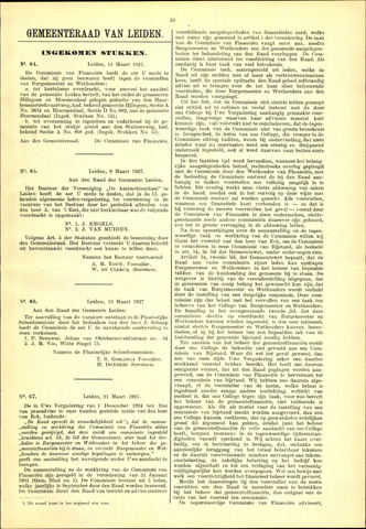 Handelingen van de Raad 1927-03-12