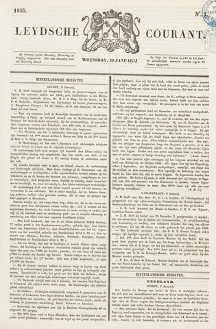 Leydse Courant 1855-01-10