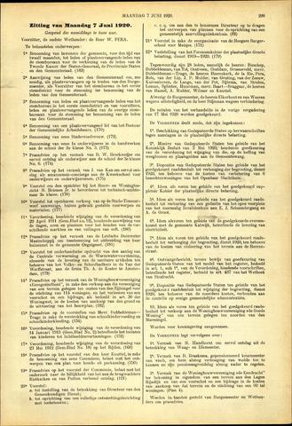 Handelingen van de Raad 1920-06-07