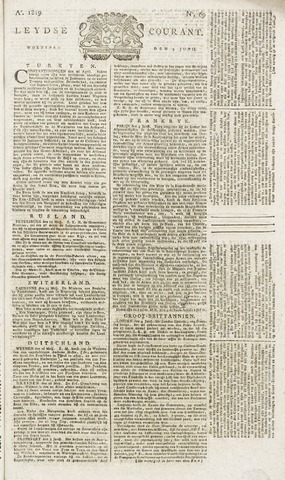 Leydse Courant 1819-06-09