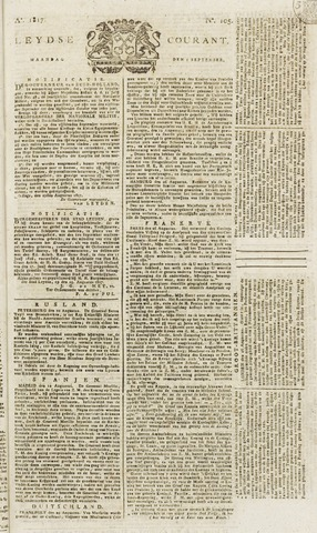 Leydse Courant 1817-09-01