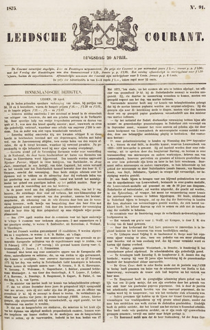 Leydse Courant 1875-04-20