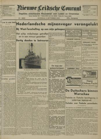 Nieuwe Leidsche Courant 1939-09-09
