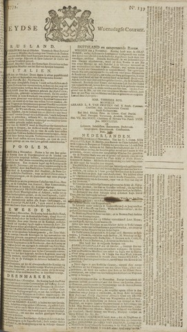 Leydse Courant 1772-11-18
