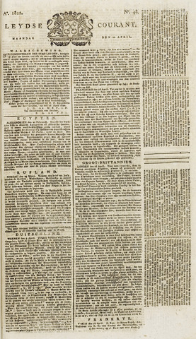 Leydse Courant 1822-04-22