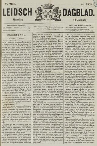 Leidsch Dagblad 1868-01-13