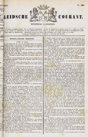 Leydse Courant 1879-08-14