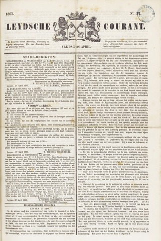 Leydse Courant 1865-04-28