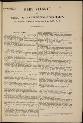 Handelingen van de Raad 1855-04-19