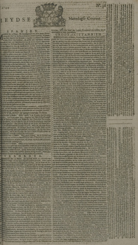 Leydse Courant 1744-03-23