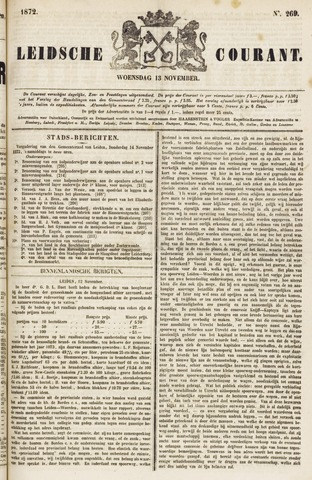 Leydse Courant 1872-11-13