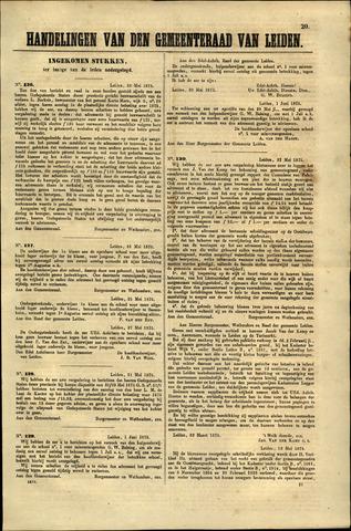 Handelingen van de Raad 1875-05-29